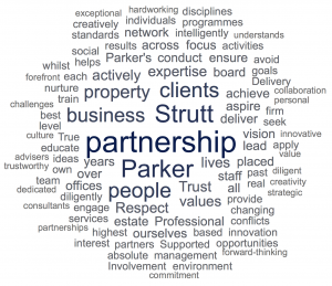 Strutt & Parker Word Cloud