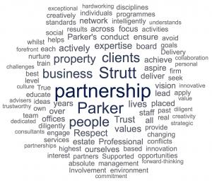 Strutt & Parker Word Cloud
