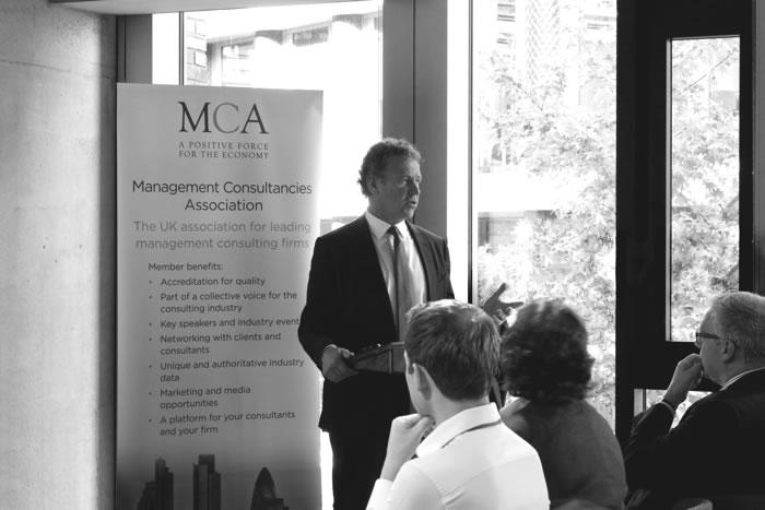 William Johnson speaking at MCA event